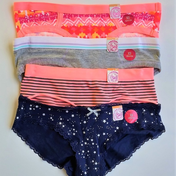 f59e0b5afd07 SO Intimates & Sleepwear | Brand 4 Hipsters Panties Xs Juniors Nwt ...